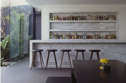 basement renovations inspiration for custom built bar